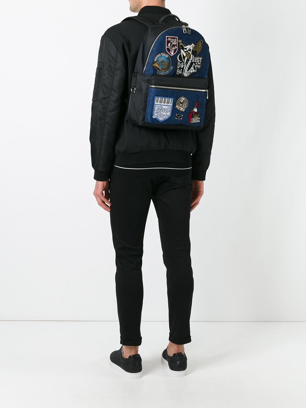 Dolce & Gabbana Denim Volcano Backpack in Blue for Men