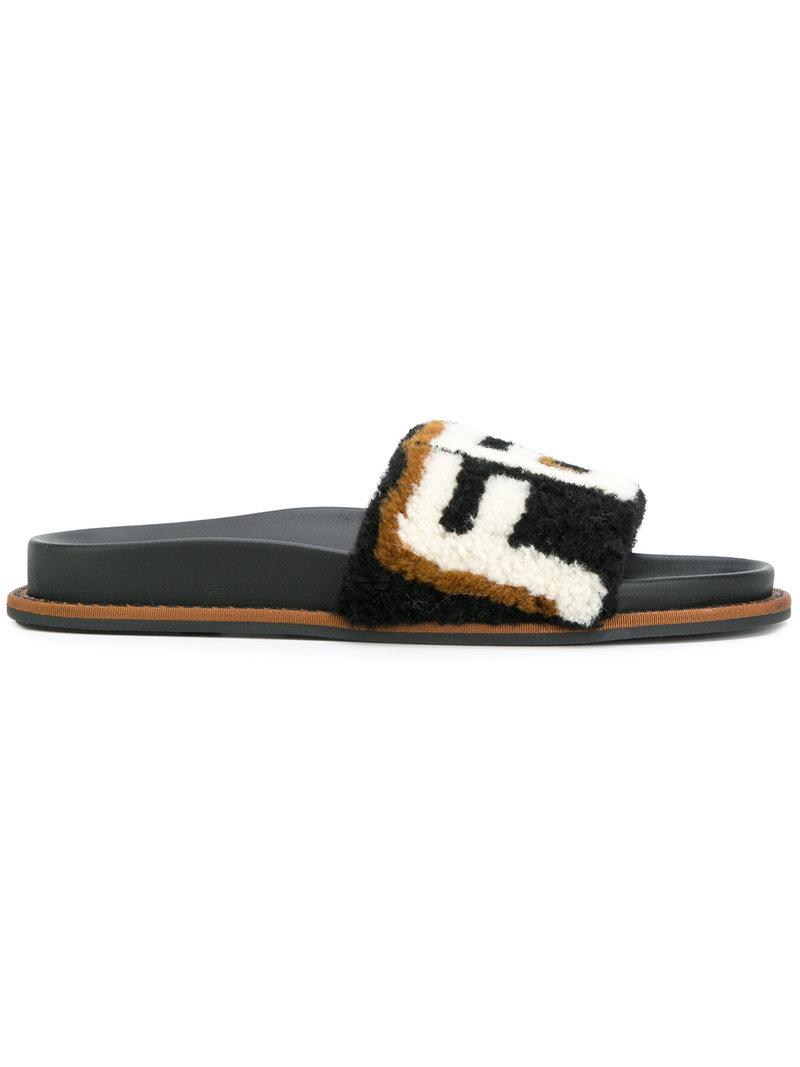 Fendi Monogram pool slides Awda4