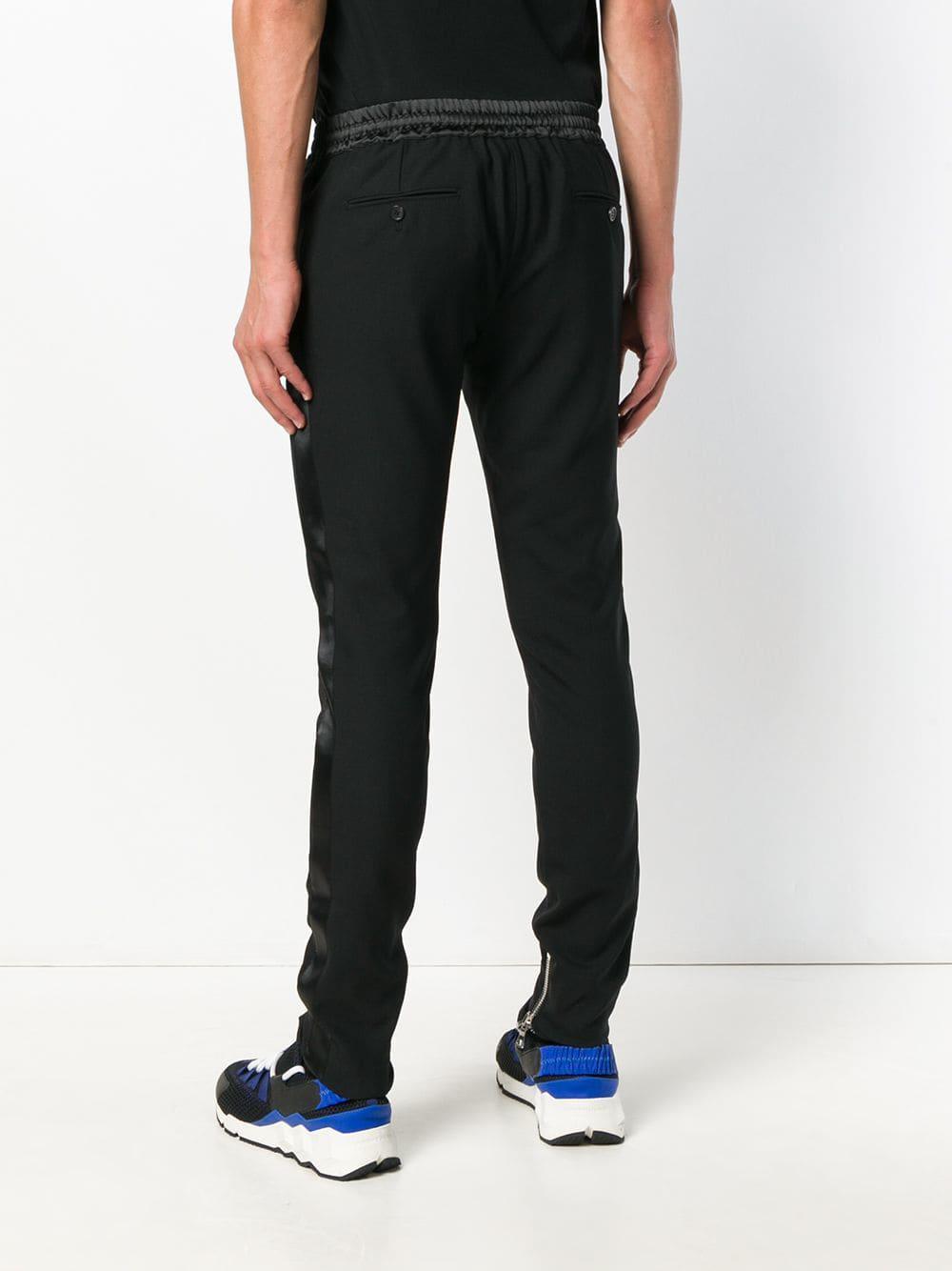 Balmain Synthetisch Tuxedo Track Pants in het Zwart voor heren