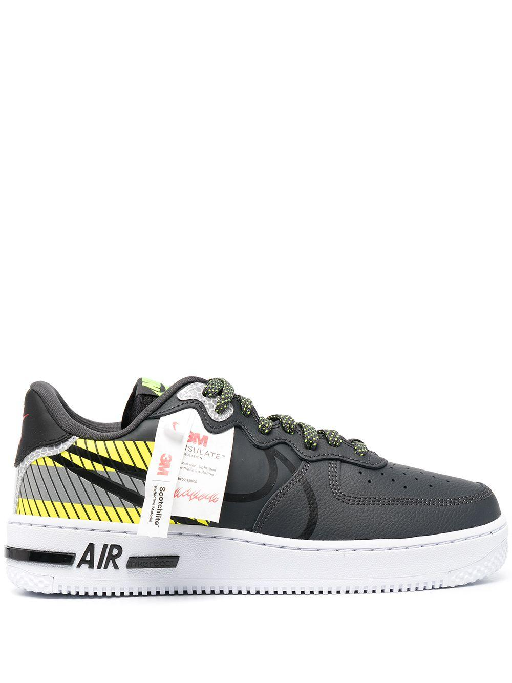 Nike Leather Air Force 1 React Lx 3m Low-top Sneakers in Black for ...