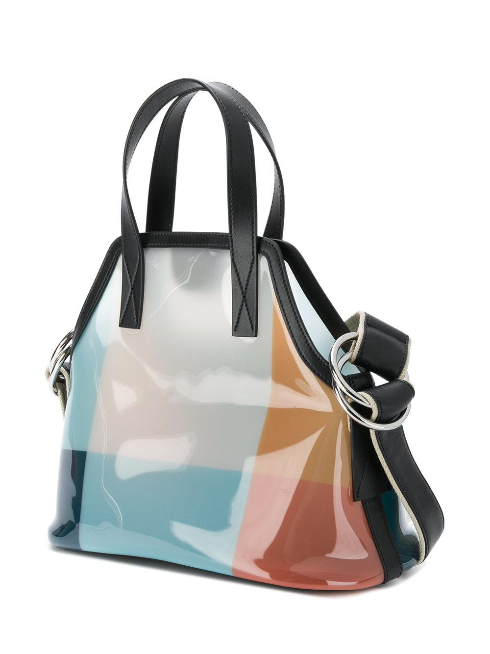Marni Leather Clear Structured Tote Bag