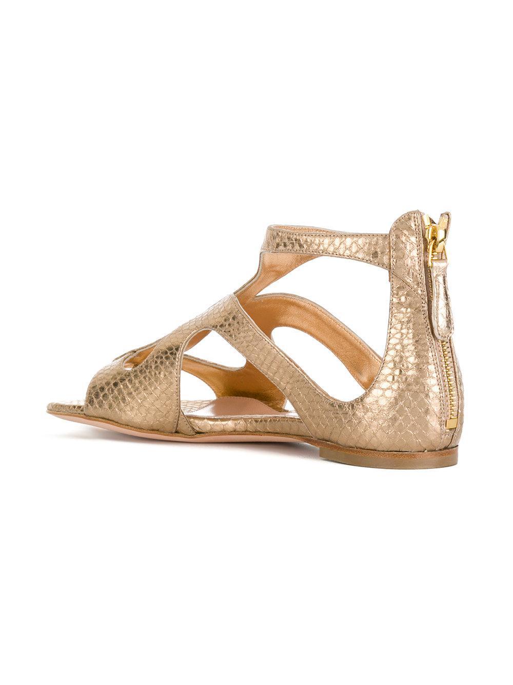 strappy sandals - Metallic Alexander McQueen RMPR9LSno