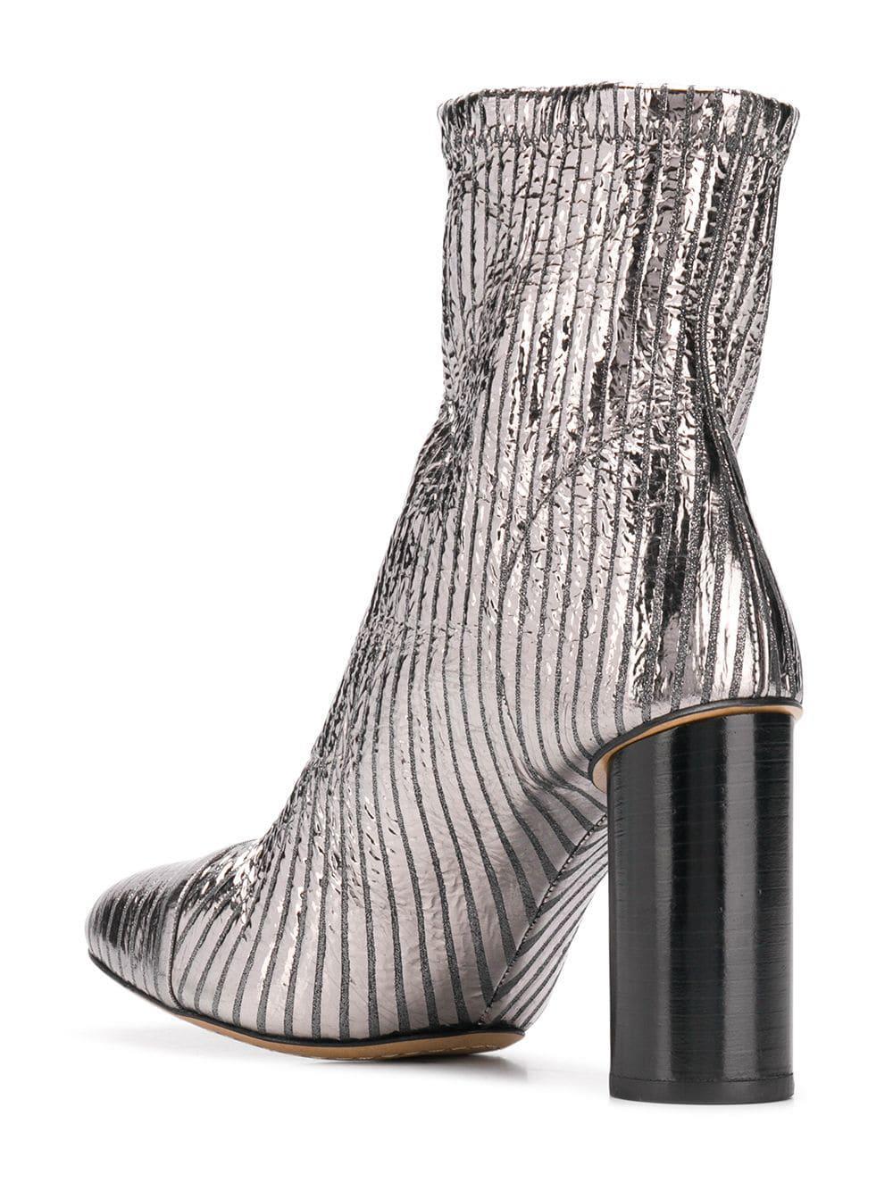 Botines de caña alta Isabel Marant de Cuero de color Metálico: ahorra un 48 %
