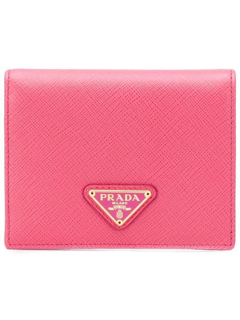 0576cf628909 Lyst - Prada Saffiano Wallet in Pink