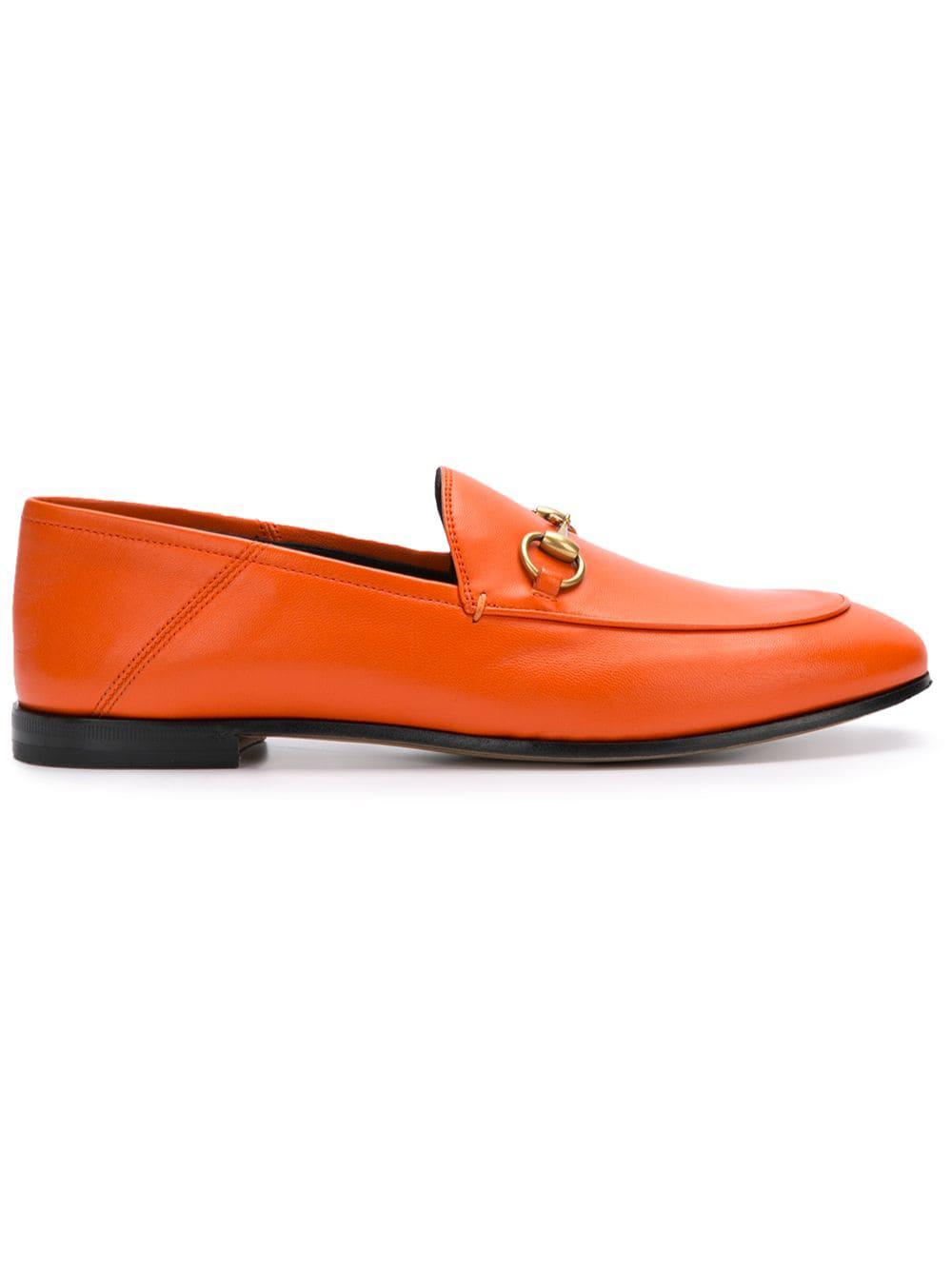 ff0573ab6190 Gucci Horsebit Loafers in Orange - Lyst