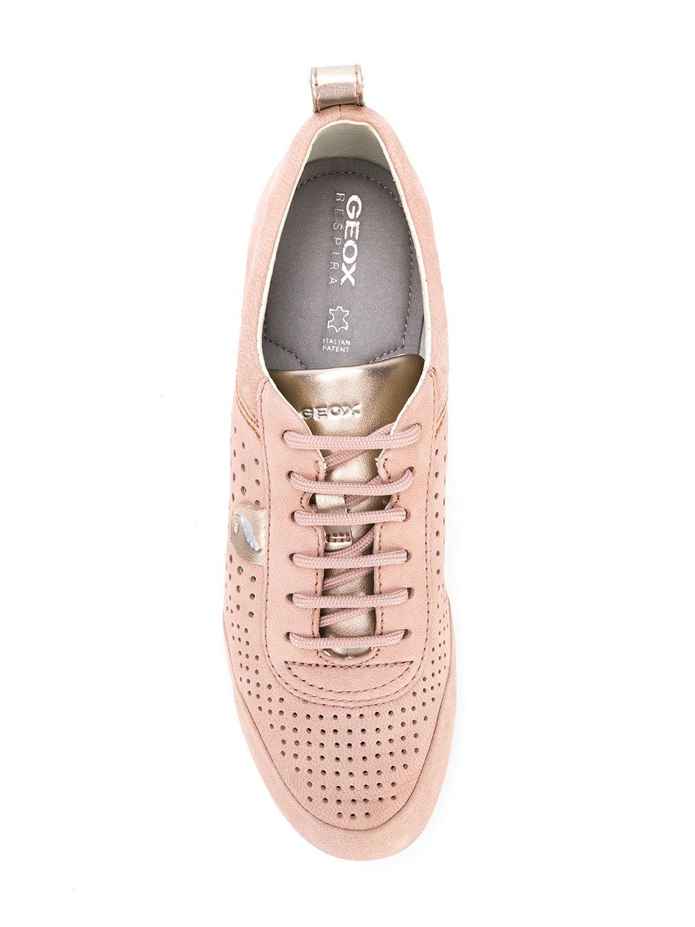 Geox Leather Vega Sneakers in Pink & Purple (Pink)