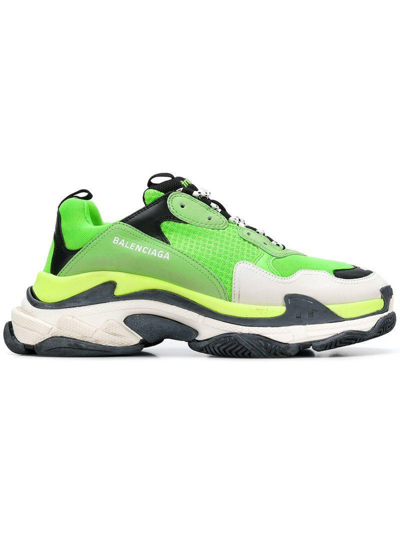Trainers Sneakers 46 Vert Fluo Black