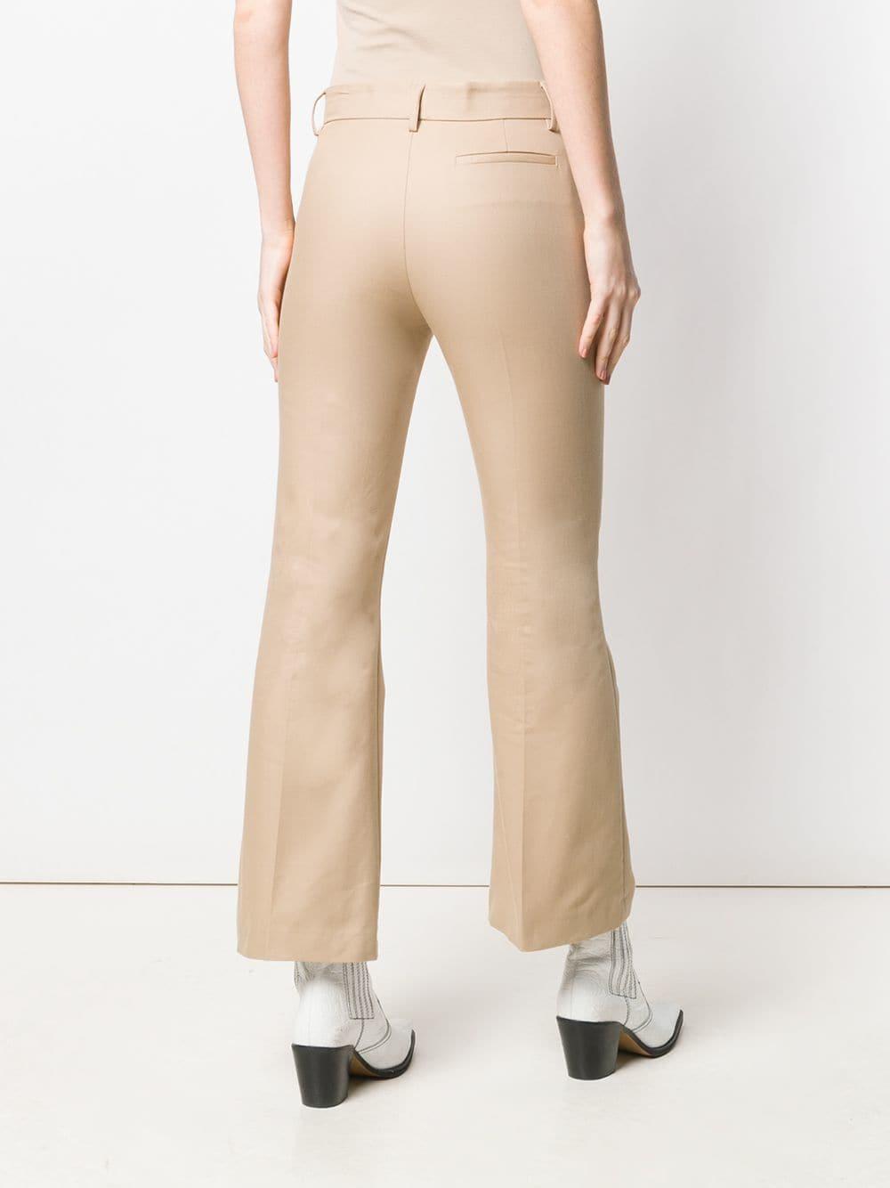 Pantalones acampanados MSGM de Algodón de color Neutro