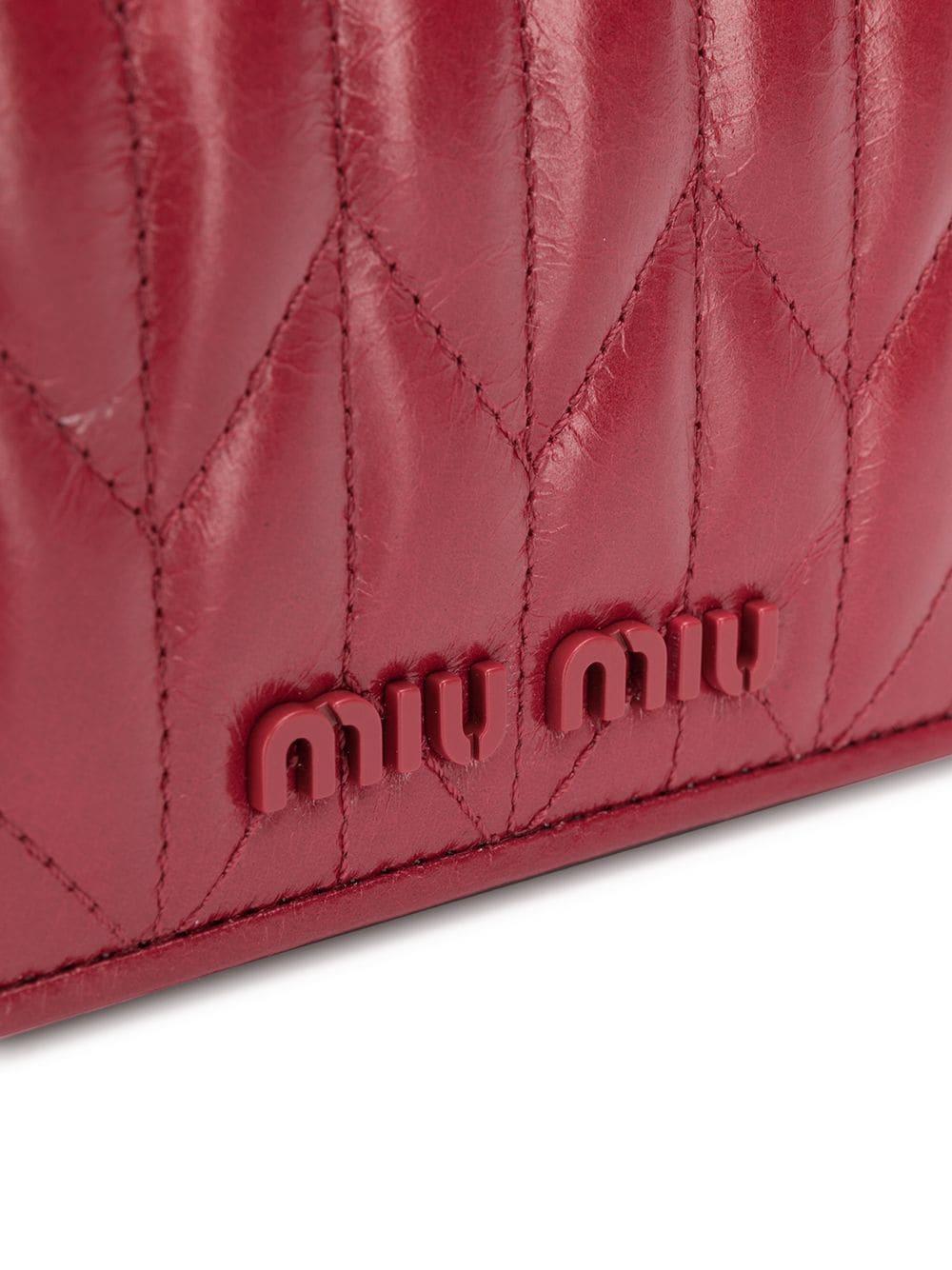 Mini sac porté épaule Cuir Miu Miu en coloris Rouge
