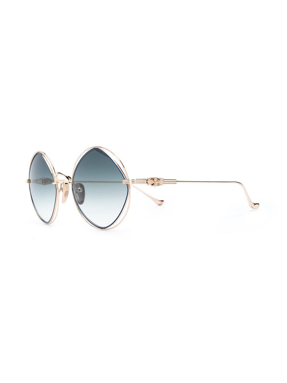 d3efea0cf5 Chrome Hearts - Metallic Round Frame Sunglasses - Lyst. View fullscreen