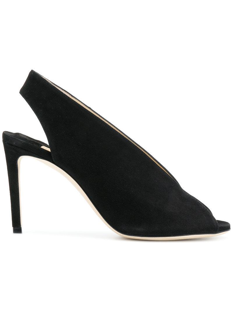 9825d3fbcdd Lyst - Jimmy Choo Shar 85 Sandals in Black - Save 19.152046783625735%