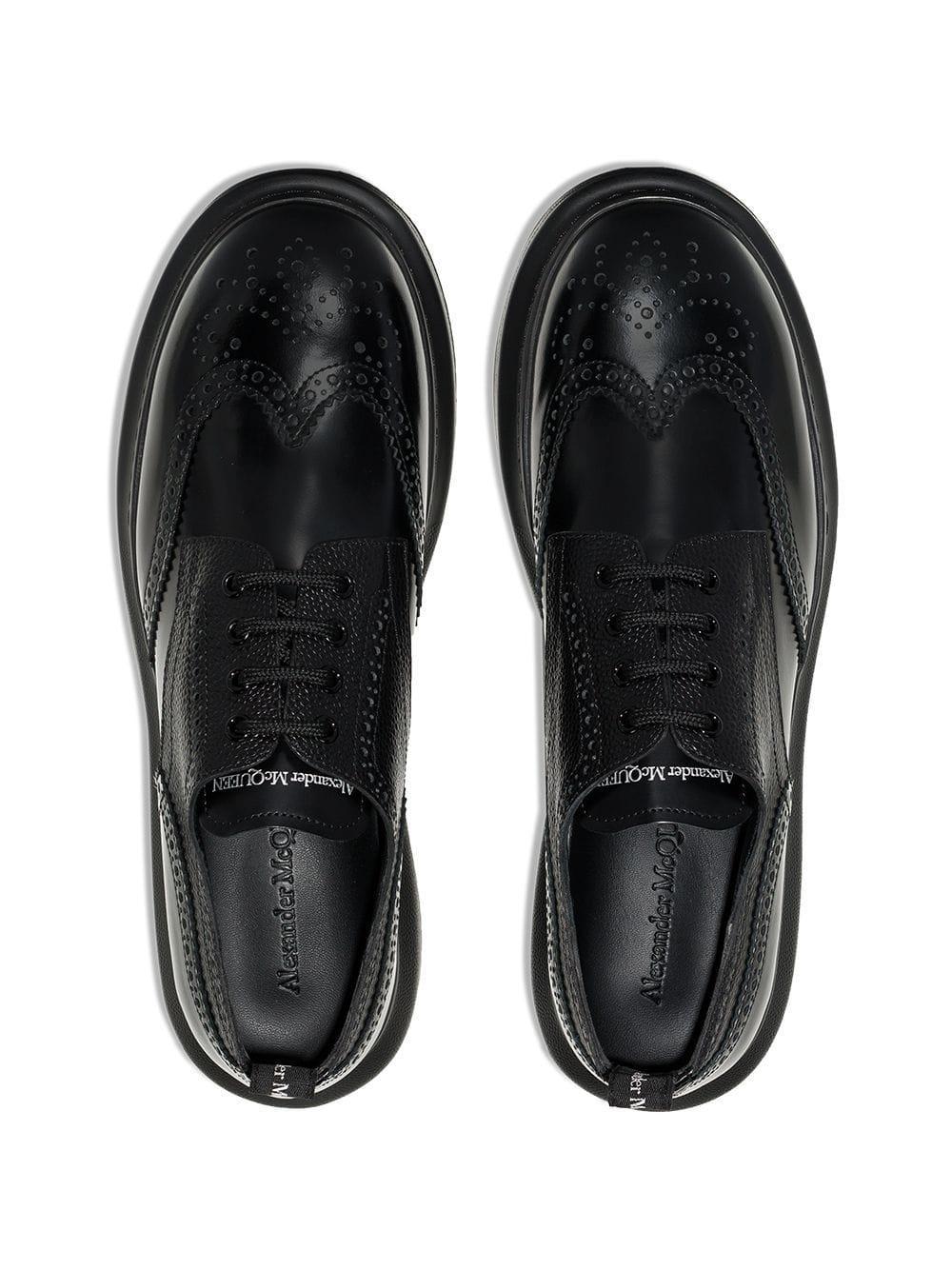 Alexander McQueen Rubber Derby Sneakers in het Zwart voor heren