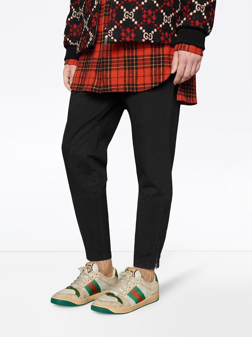 b7f1989252e Lyst - Gucci Screener Leather Sneaker for Men
