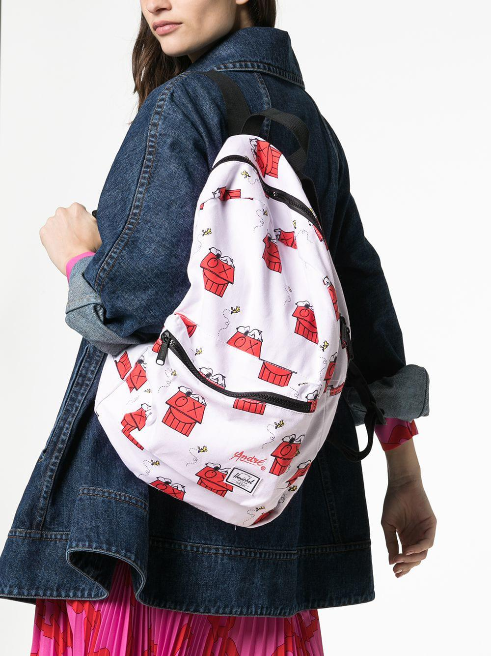 346c6b1d43 Lyst - Herschel Supply Co. White Snoopy Skate Backpack in White - Save 47%