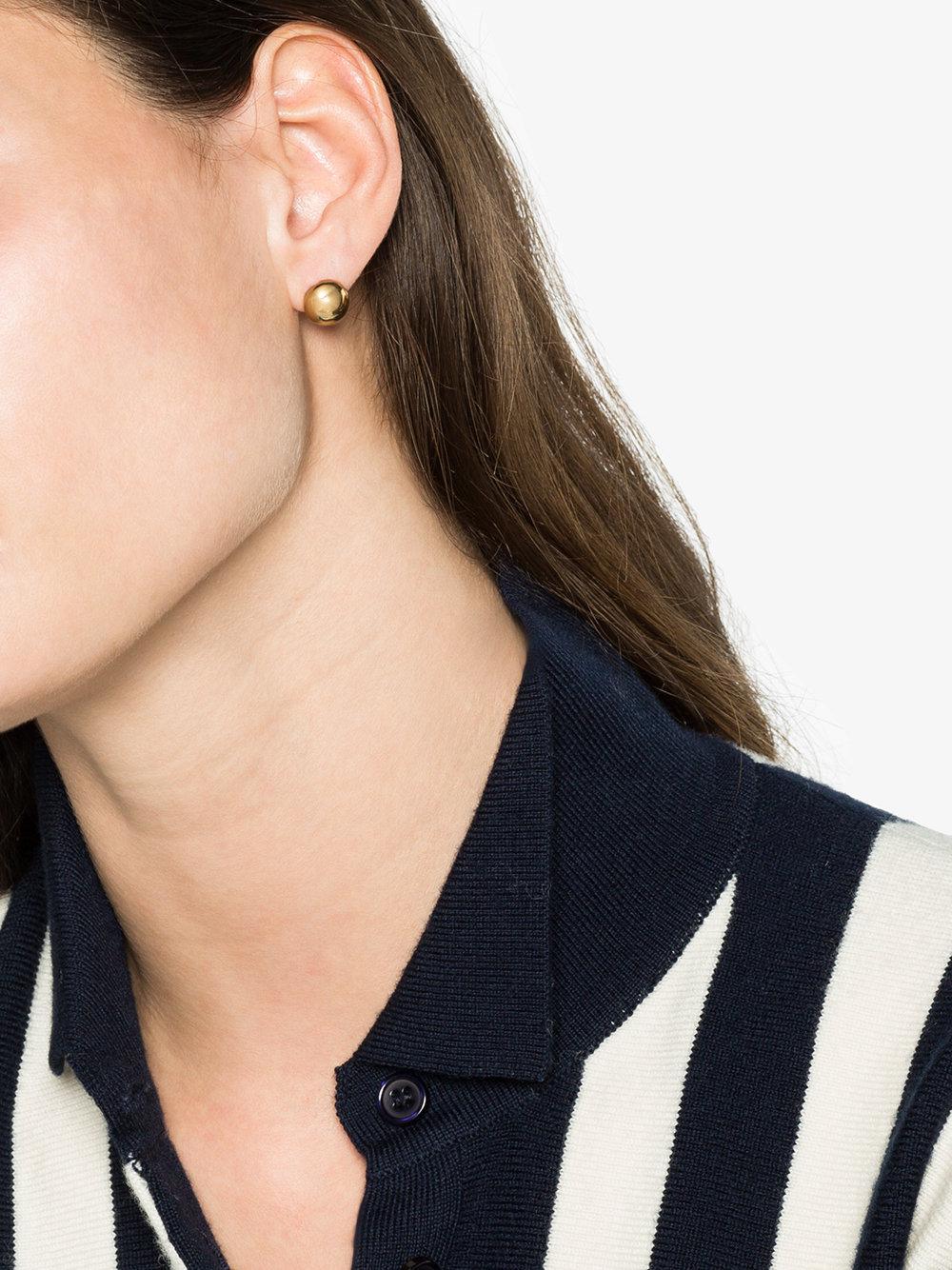 All_Blues 18k gold Quail yolk earrings - Metallic CQwAnqd