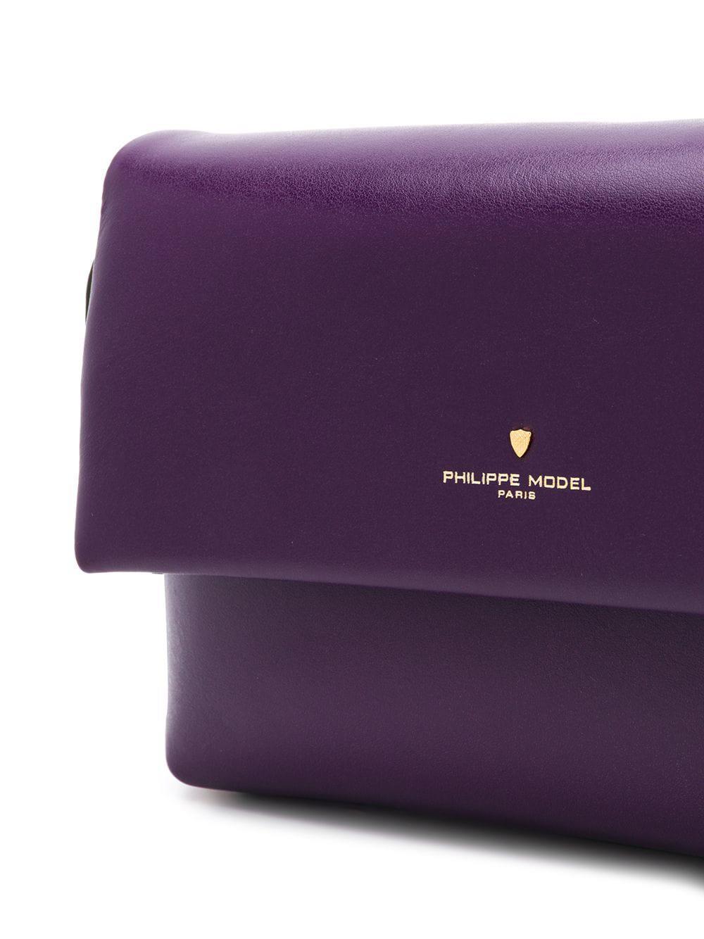 f57cc4c483b5 Philippe Model - Purple Foldover Top Shoulder Bag - Lyst. View fullscreen