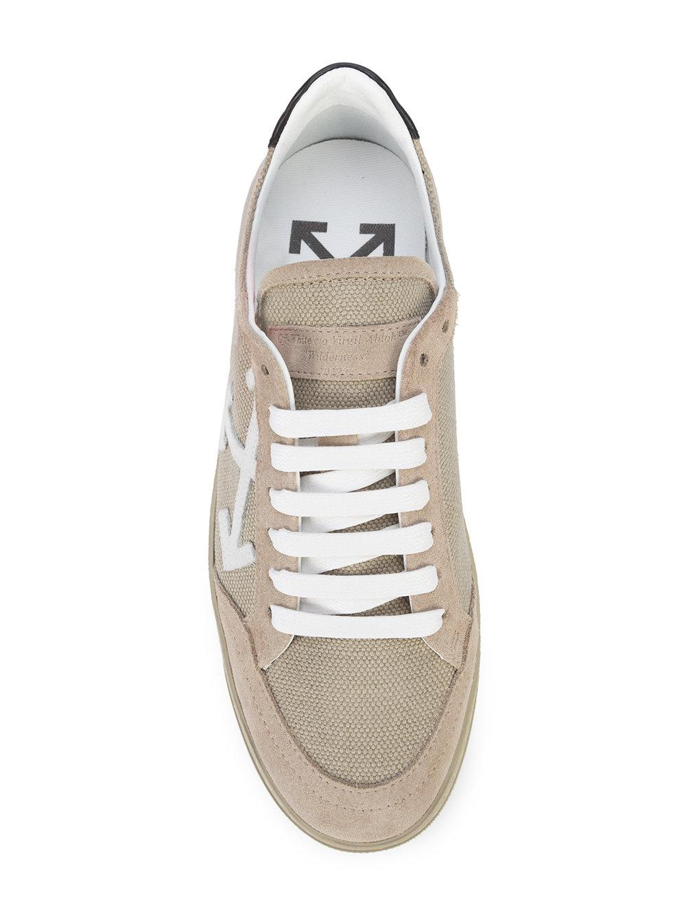 Off-White c/o Virgil Abloh Leather Carryover Sneakers in Brown