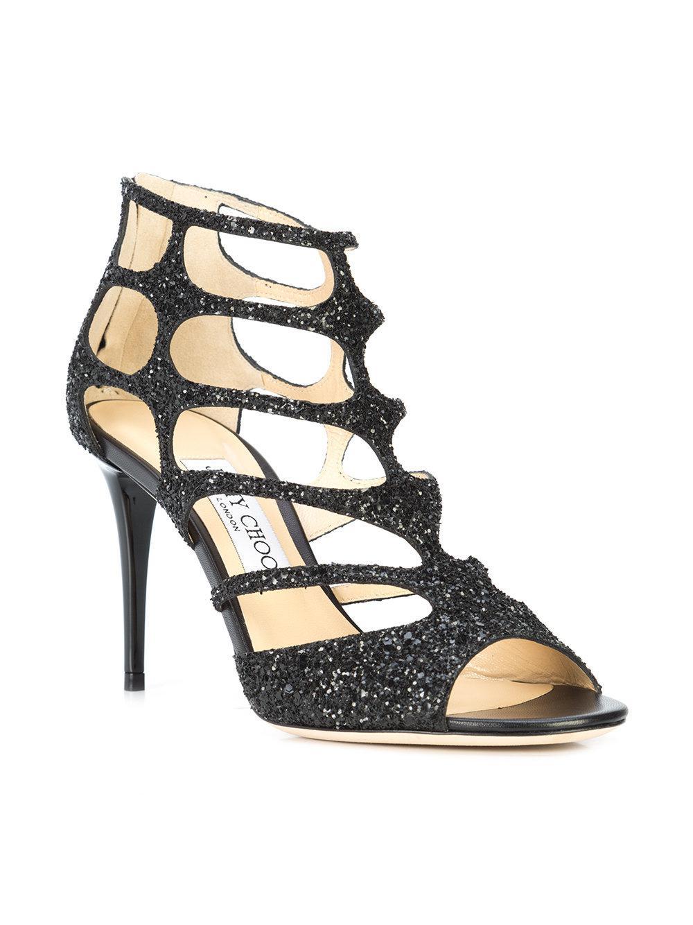 51bd2c94c23 Lyst - Jimmy Choo Ren 85 Sandals in Black