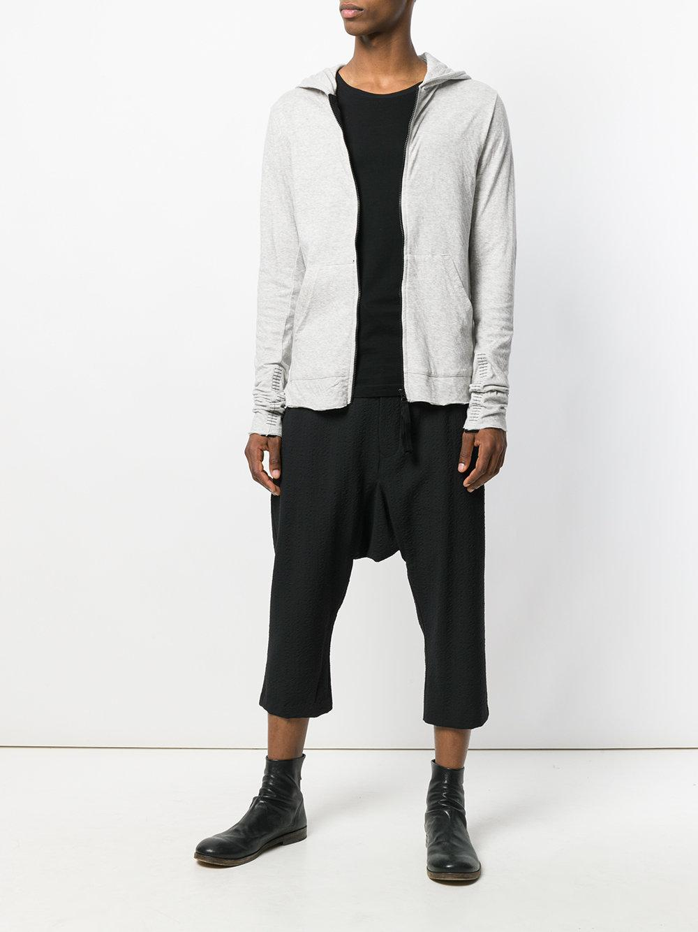 Thom Krom Cotton Hooded Zipped Jacket in Grey (Grey) for Men