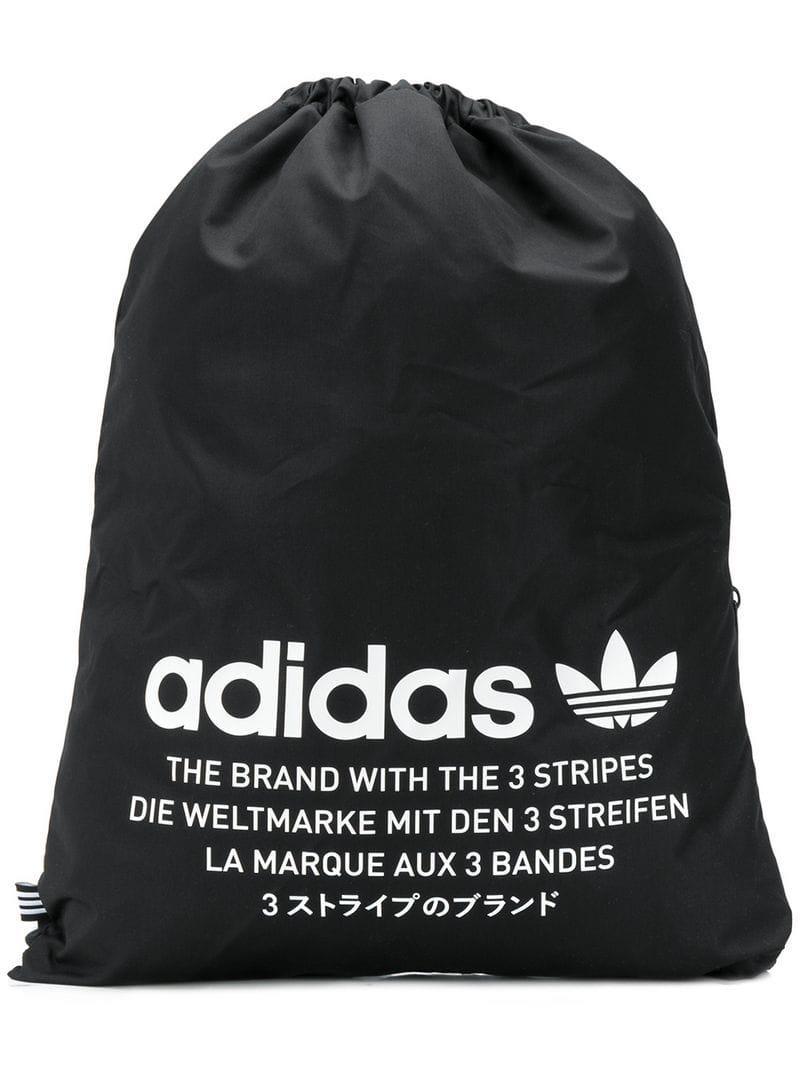Adidas - Black Drawstring Backpack for Men - Lyst. View fullscreen a09cc51c18081