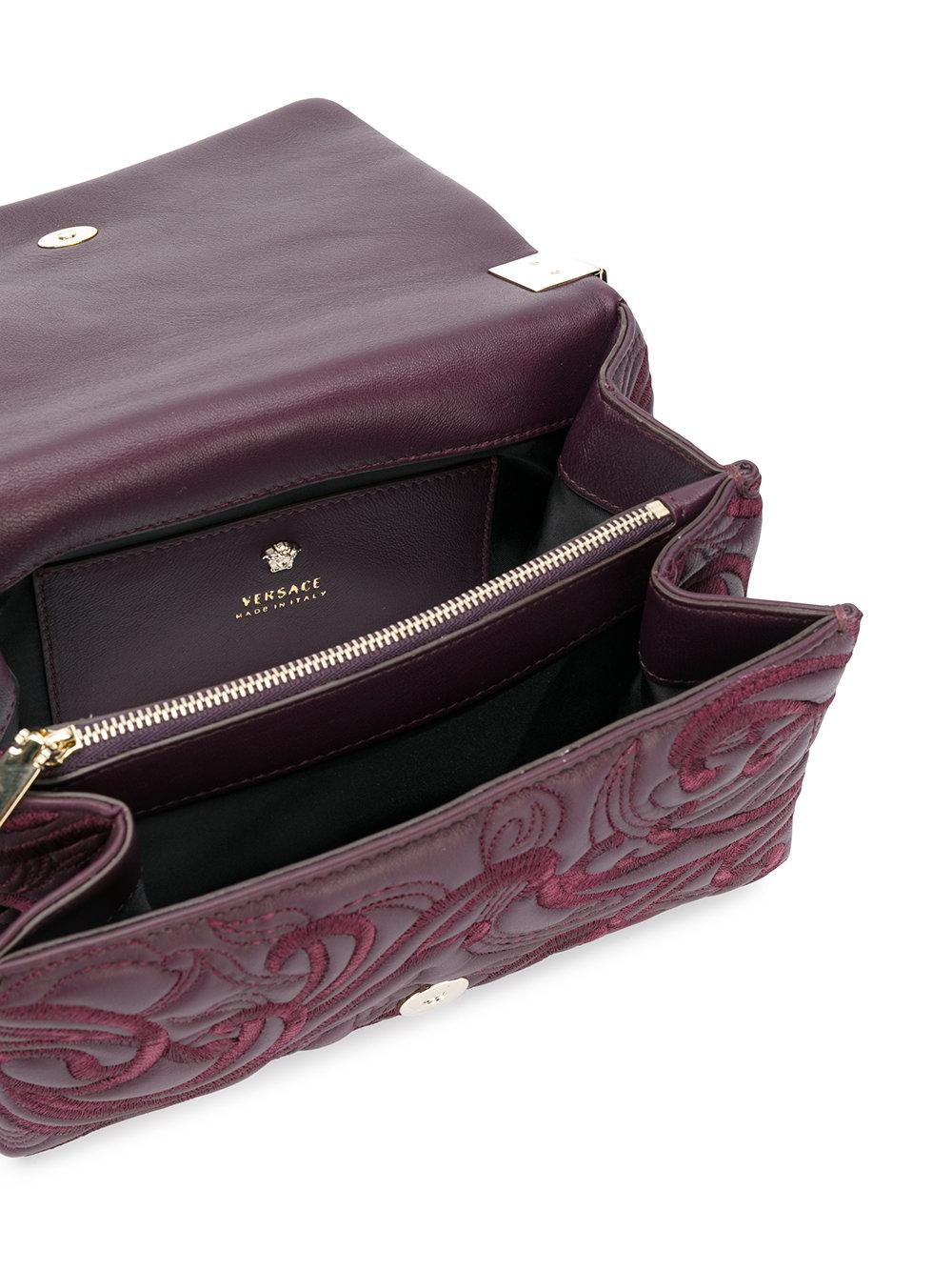 0c9f7b648fb Versace Sultan Bag in Purple - Lyst