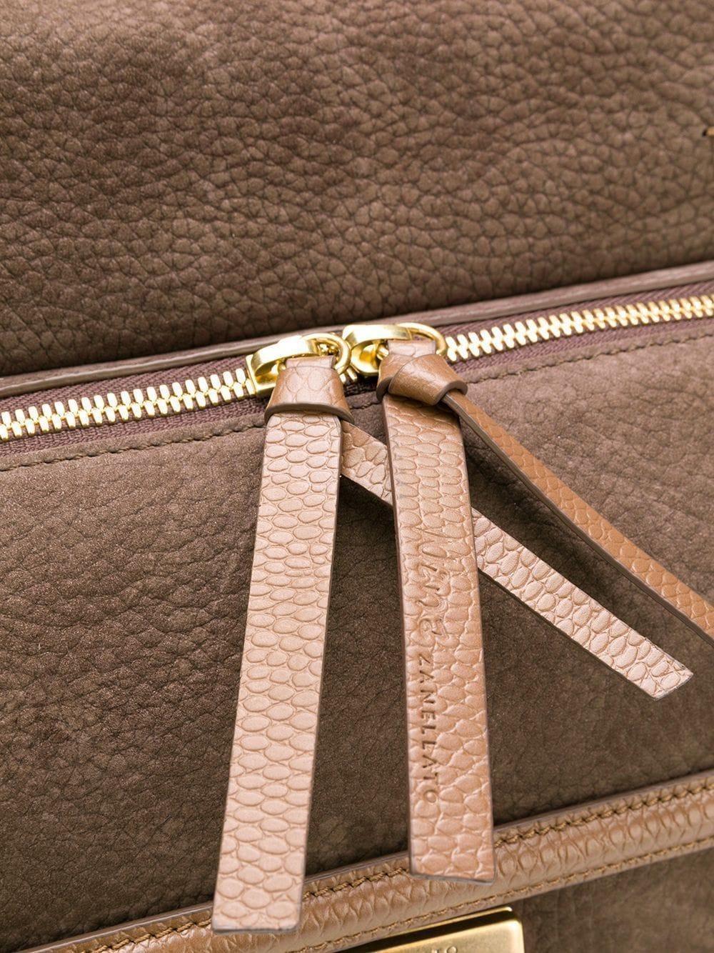 Zanellato Wildleder 'Nina' Handtasche in Braun PBqLy