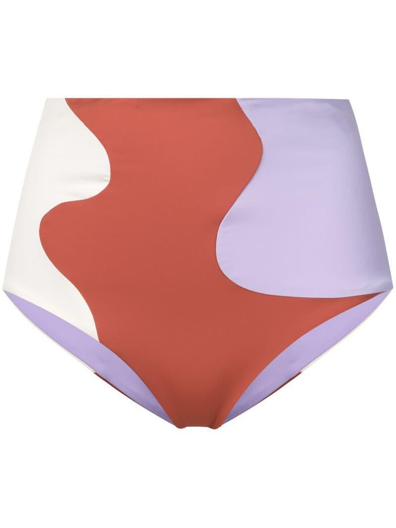 994718c588940 Lyst - Mara Hoffman High-rise Bikini Bottoms in Purple