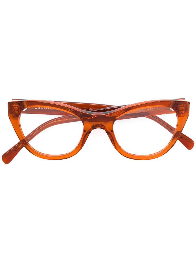 sol de Gafas de naranjas ojos con Celine gato Amarillo y qAIxwHI5P