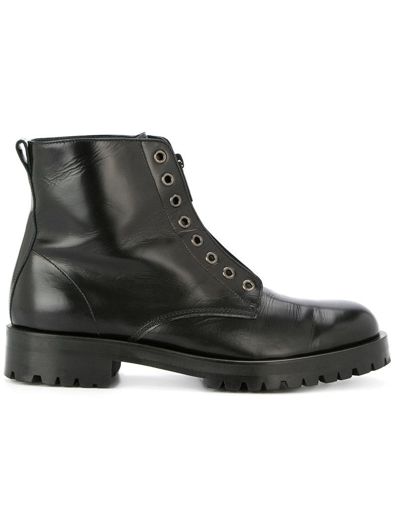 Hysteric Glamour zipped lace-less boots shop offer sale online KH10hGtb