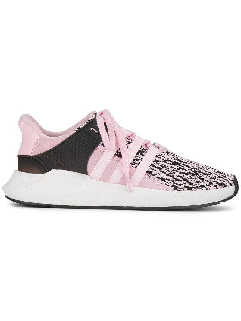 lyst adidas pink eqt support adv trainers in pink. Black Bedroom Furniture Sets. Home Design Ideas