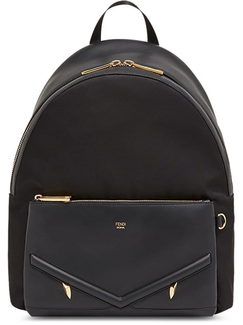 92adba6cb76e Fendi - Black Large Appliqué Backpack for Men - Lyst. View fullscreen