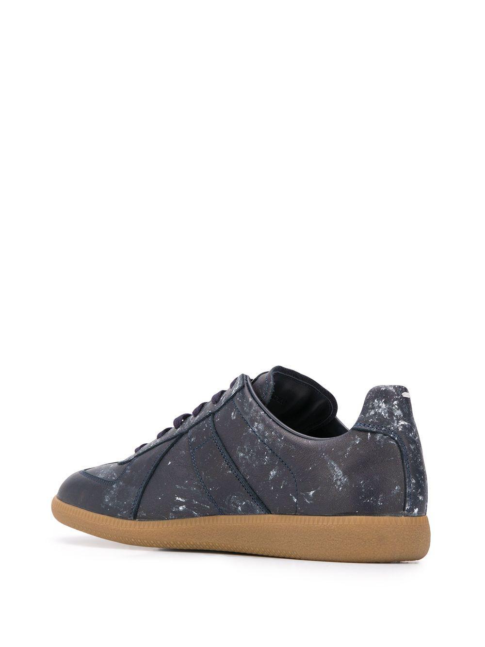Zapatillas bajas con diseño pintado Maison Margiela de Lona de color Azul para hombre: ahorra un 55 %