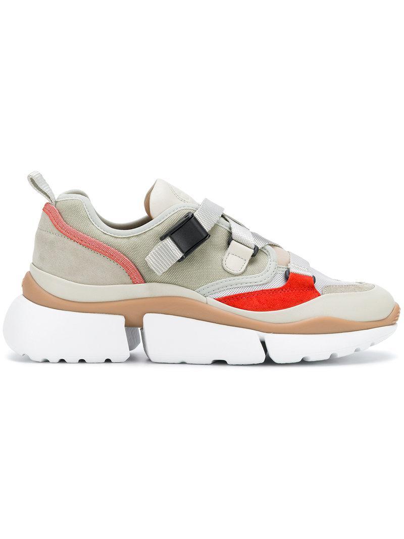 ridged platform futuristic sneakers - Green Chloé iPQbCgvKD