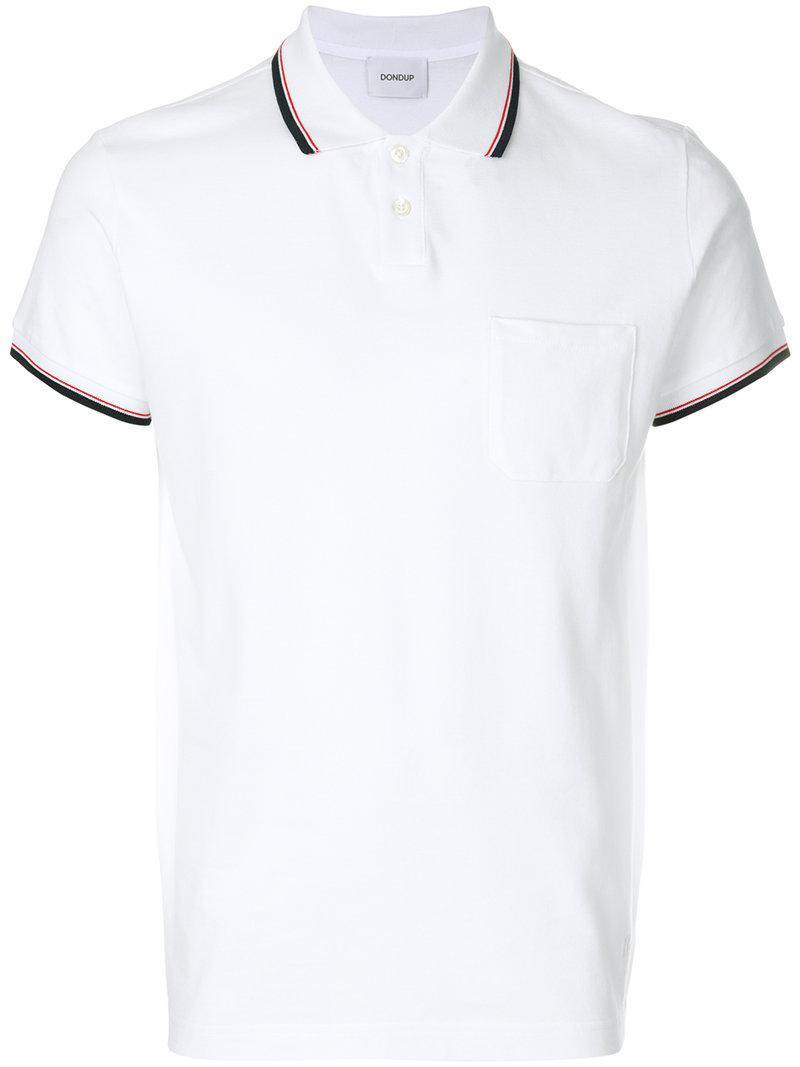 striped detail polo shirt - White Dondup Best Store To Get For Sale Cheap Pay With Visa Cheap Sale Manchester Discount Aaa Pick A Best For Sale ZcRK0qojxu
