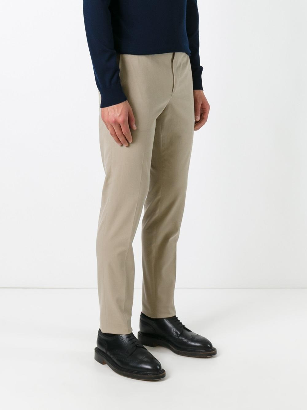 PT01 Wool Skinny Trousers in Blue for Men