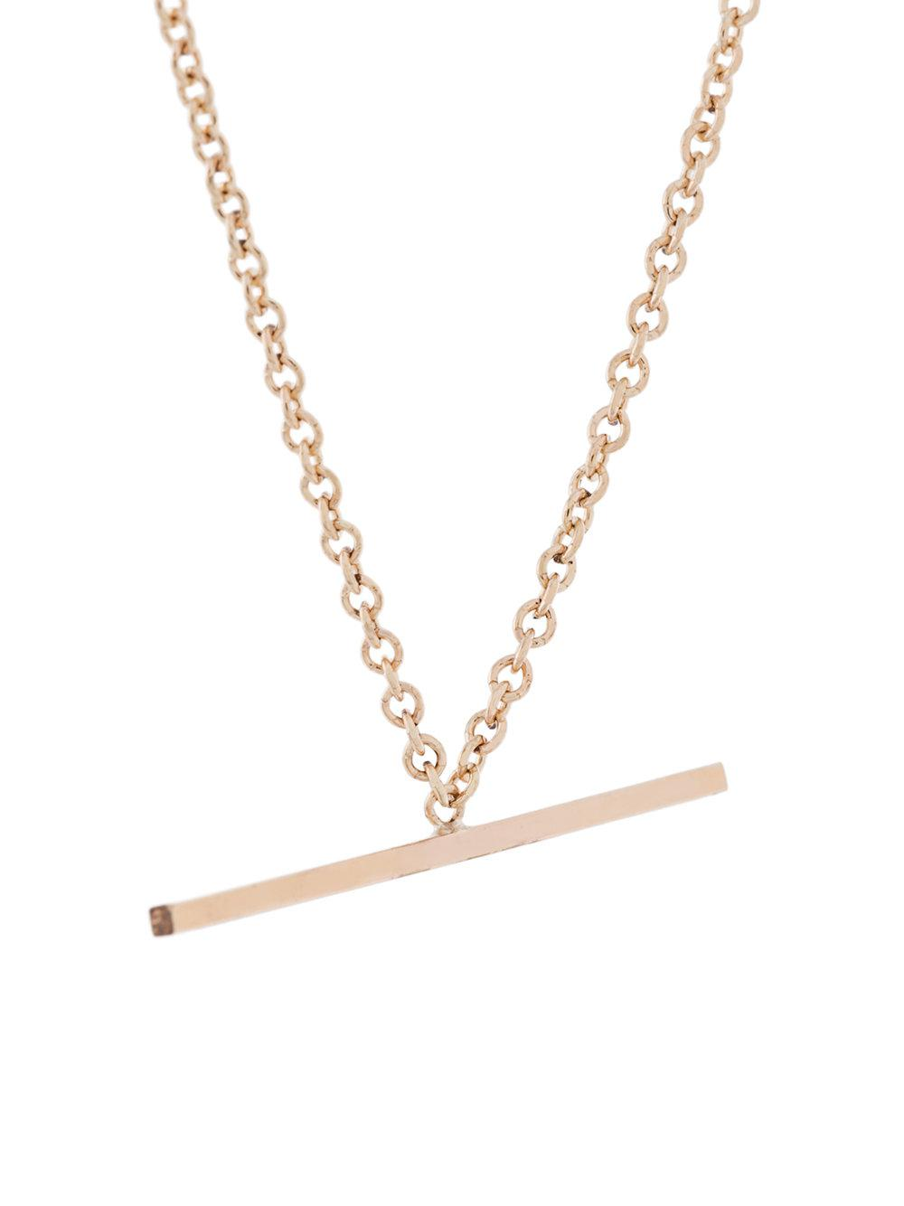 By Boe Mini Bar Necklace in Metallic