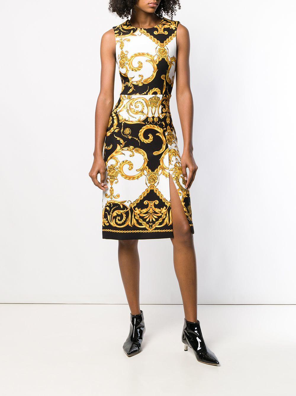 24d4f1ad Lyst - P.A.R.O.S.H. Baroque Pattern Dress in Black