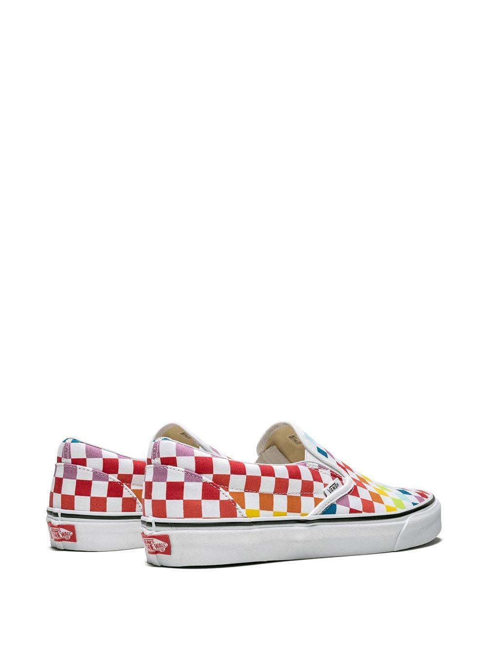 Chaussures de skate à carreaux
