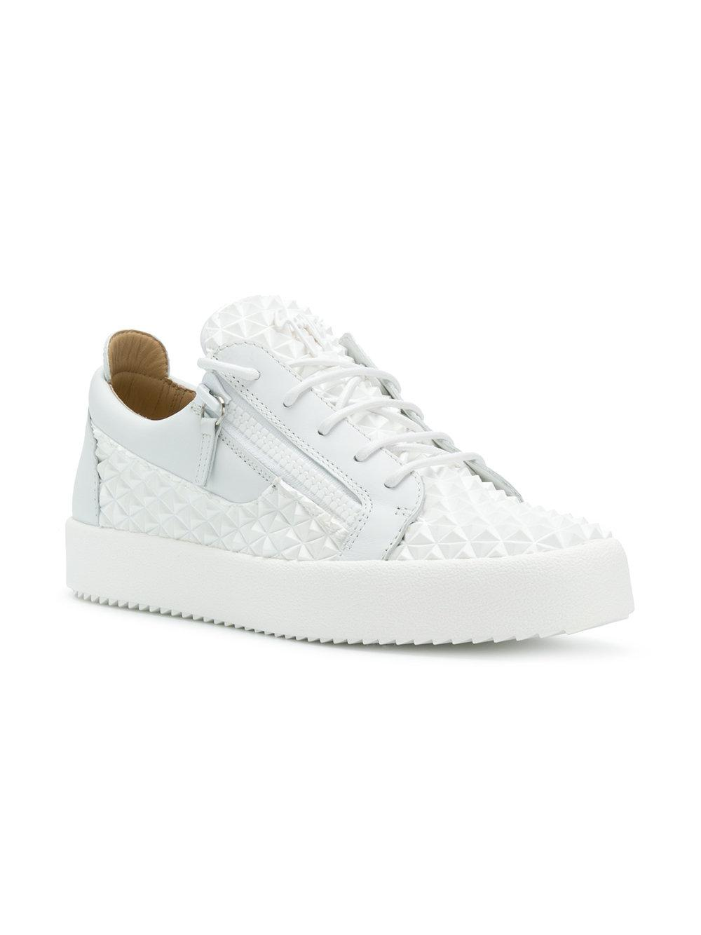 bc8651ec28452 Giuseppe Zanotti Frankie Manhattan Sneakers in White for Men - Lyst