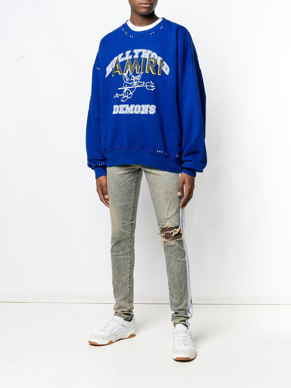 68cfb3f1d22 Lyst - Amiri White Stripe Skinny Jeans in Blue for Men - Save 15%