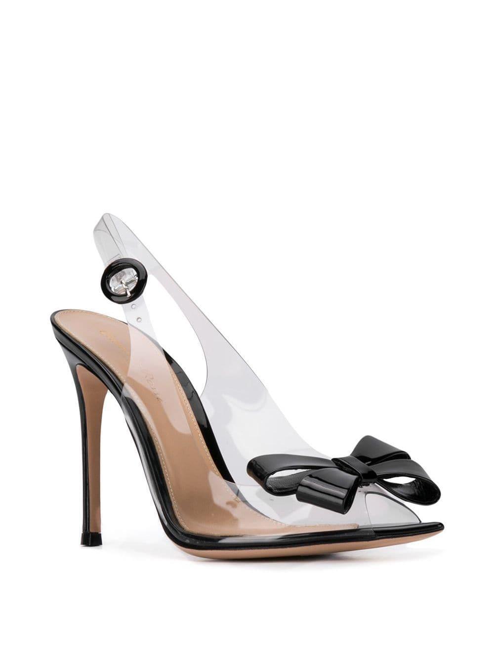 Zapatos de tacón con tira trasera y lazo Gianvito Rossi de Cuero de color Negro