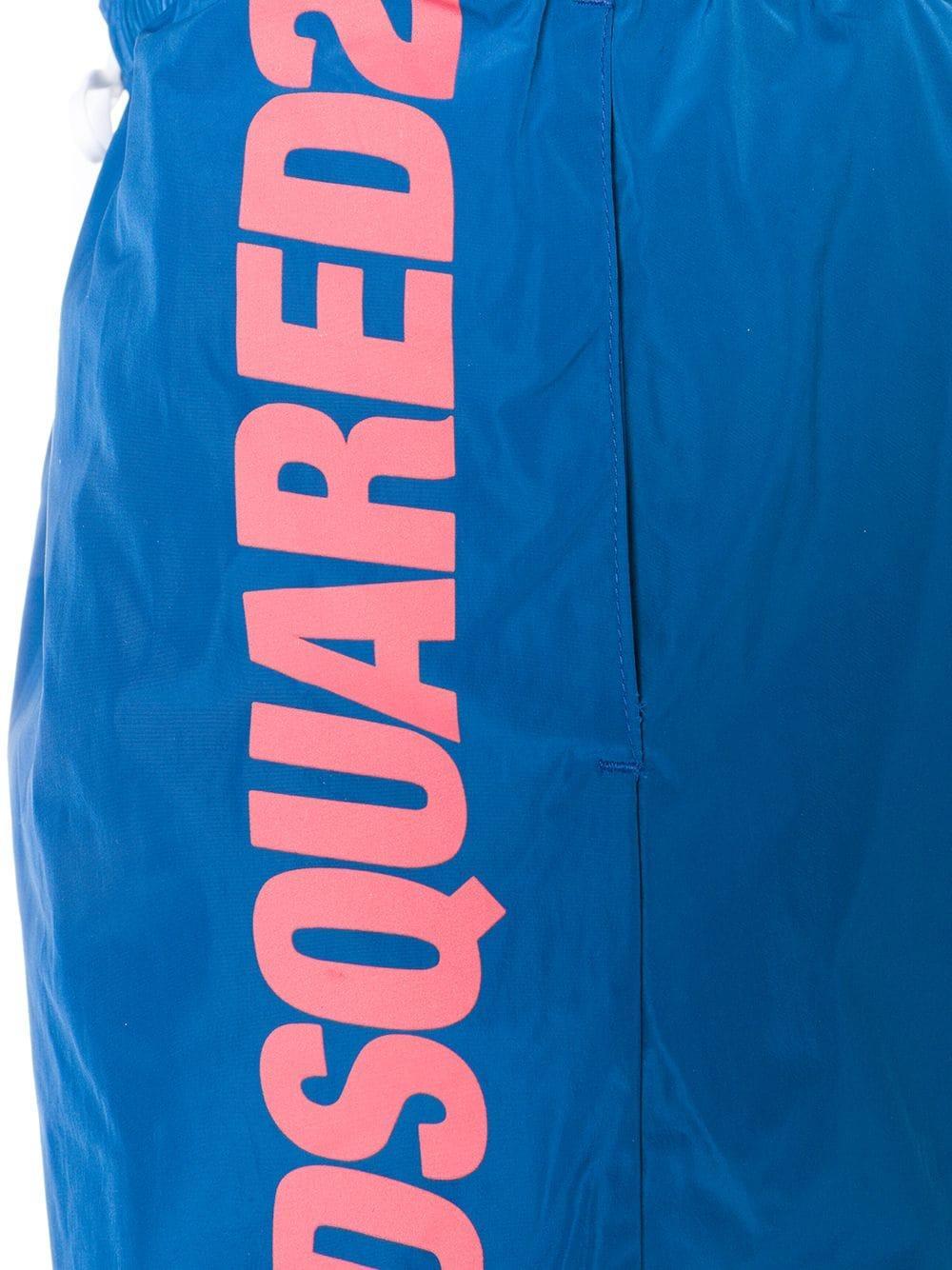 DSquared² Synthetisch Zwembroek Met Bloemenprint in het Blauw voor heren