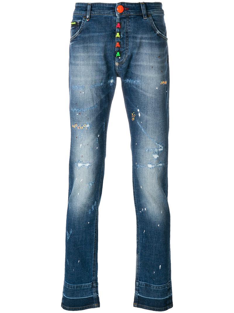 Designer Store Online Stop Me jeans - Blue Philipp Plein Sale Genuine Cheap For Sale Wiki lJ4yWeD