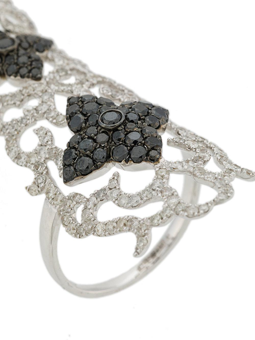 Elise Dray embellished cuff ring - Metallic AsDEbqtkp