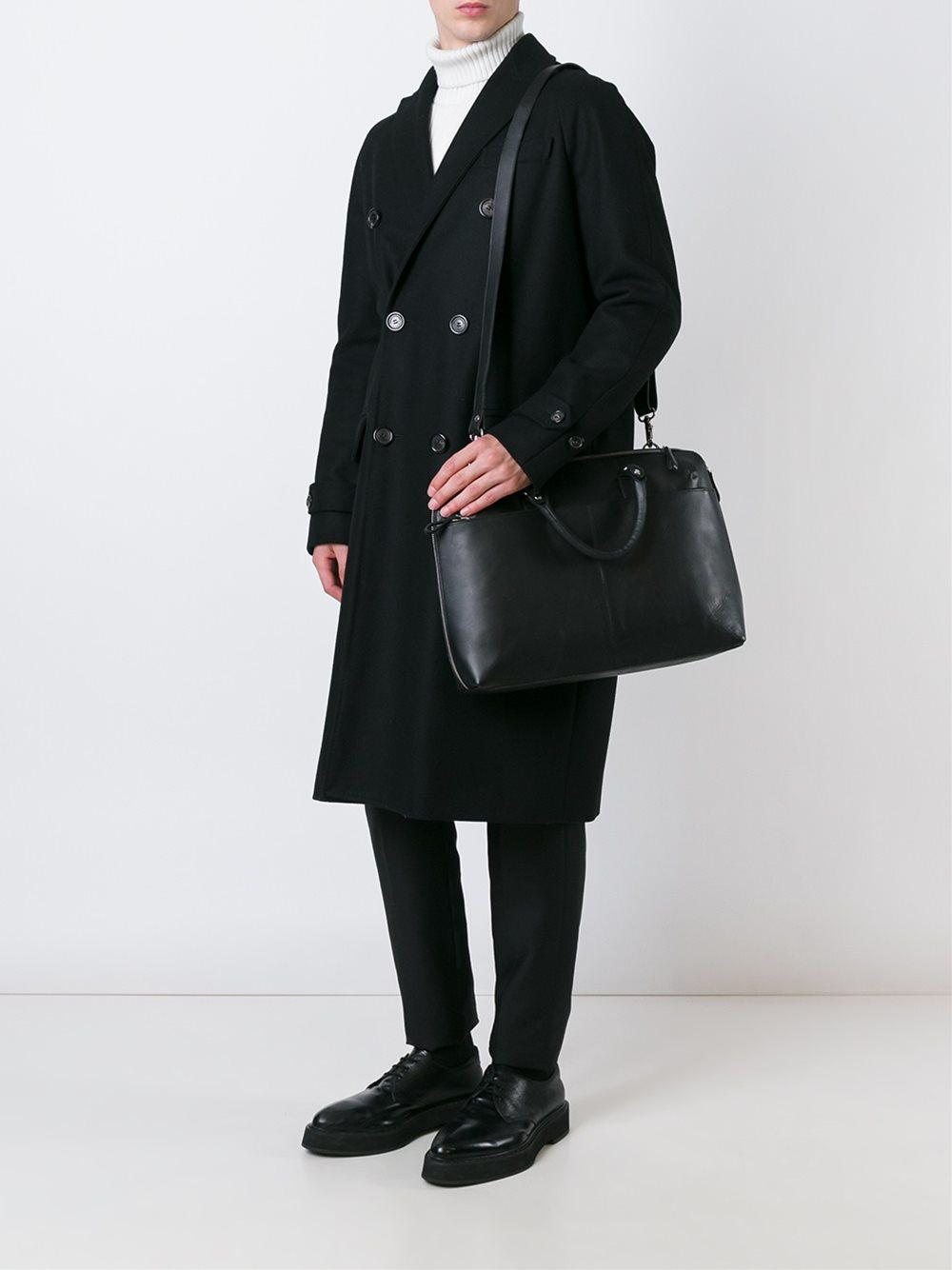 Sandqvist Leather 'dustin' Tote Bag in Black