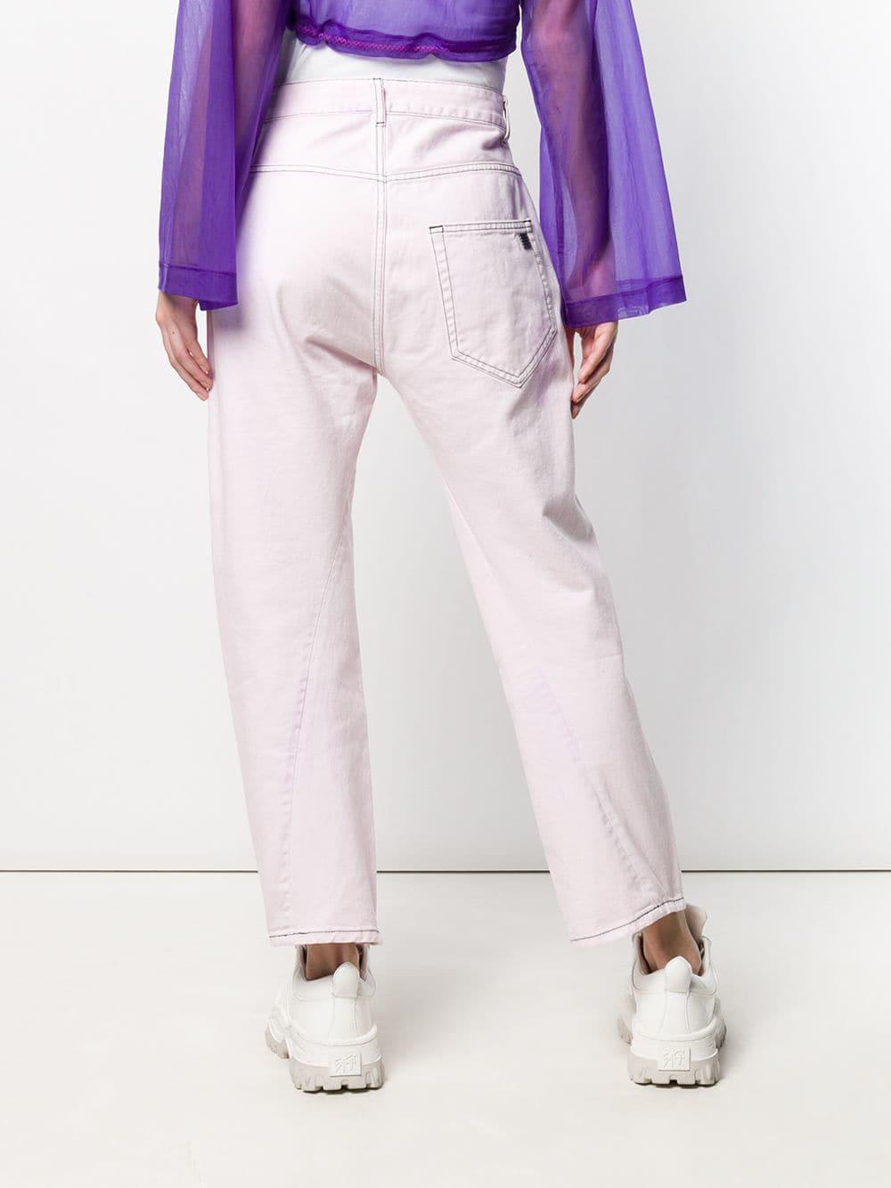 Palm Angels Denim Jeans mit verdrehten Nähten in Lila qiKTR