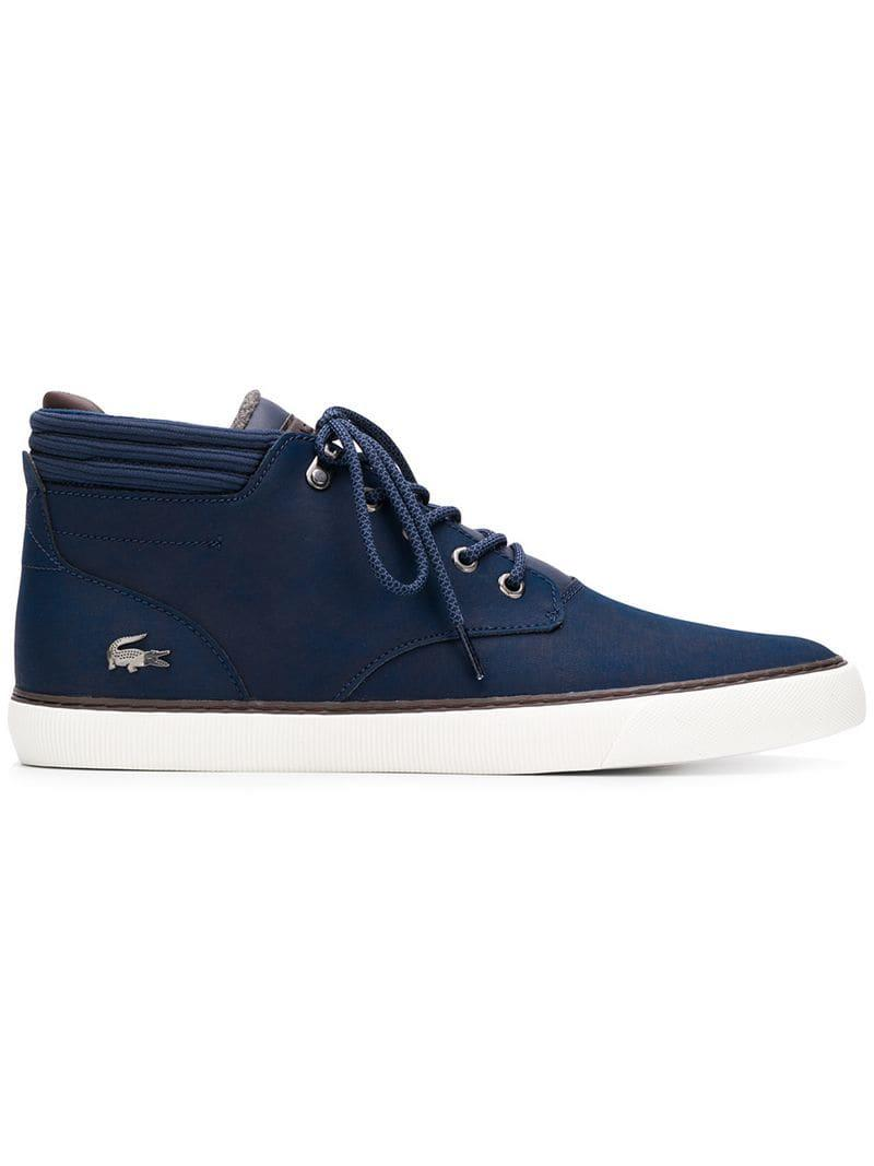 4322a5065bfe Lyst - Lacoste Lace-up Boots in Blue for Men