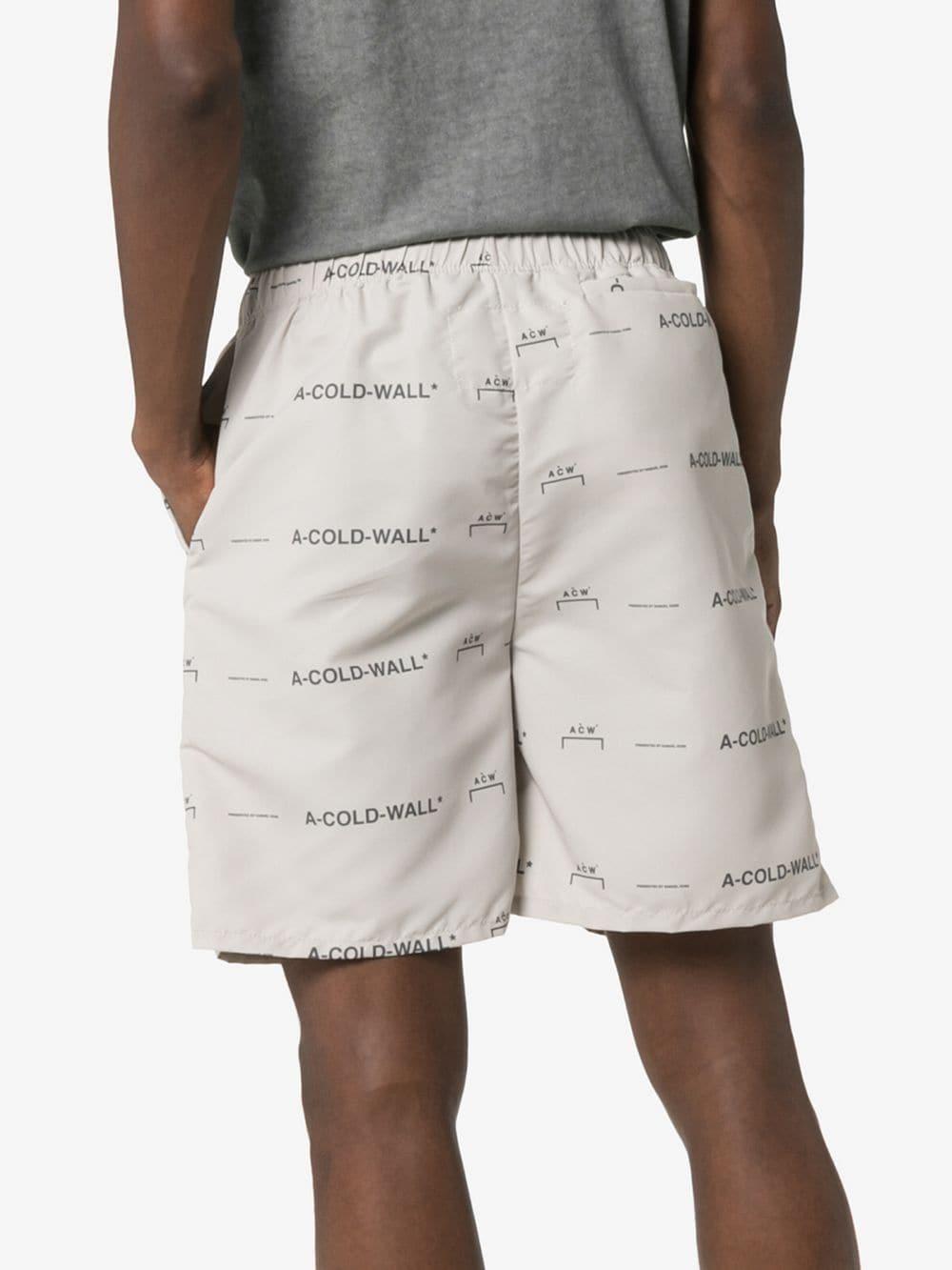 A_COLD_WALL* Shorts Met Logoprint in het Naturel voor heren