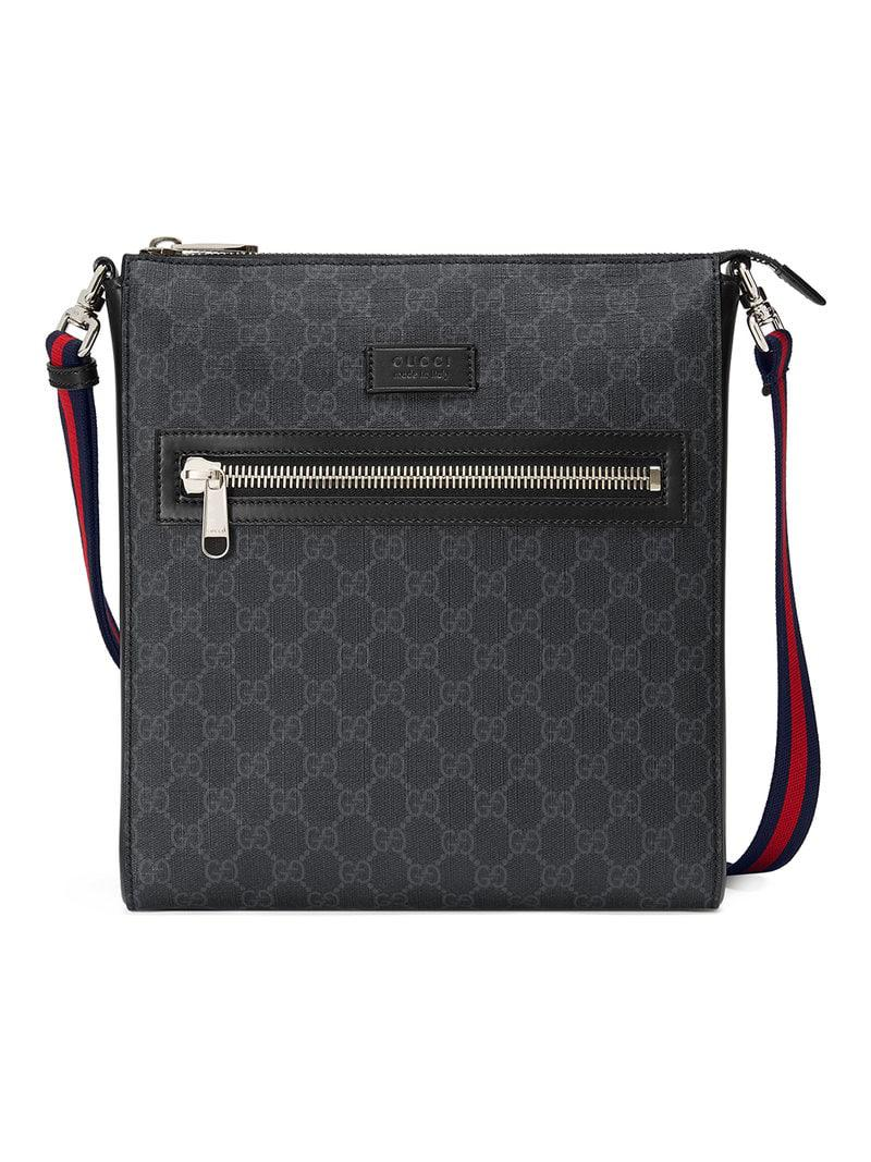 1a0ad8b64f9 Lyst - Gucci GG Supreme Messenger in Black for Men - Save 3%