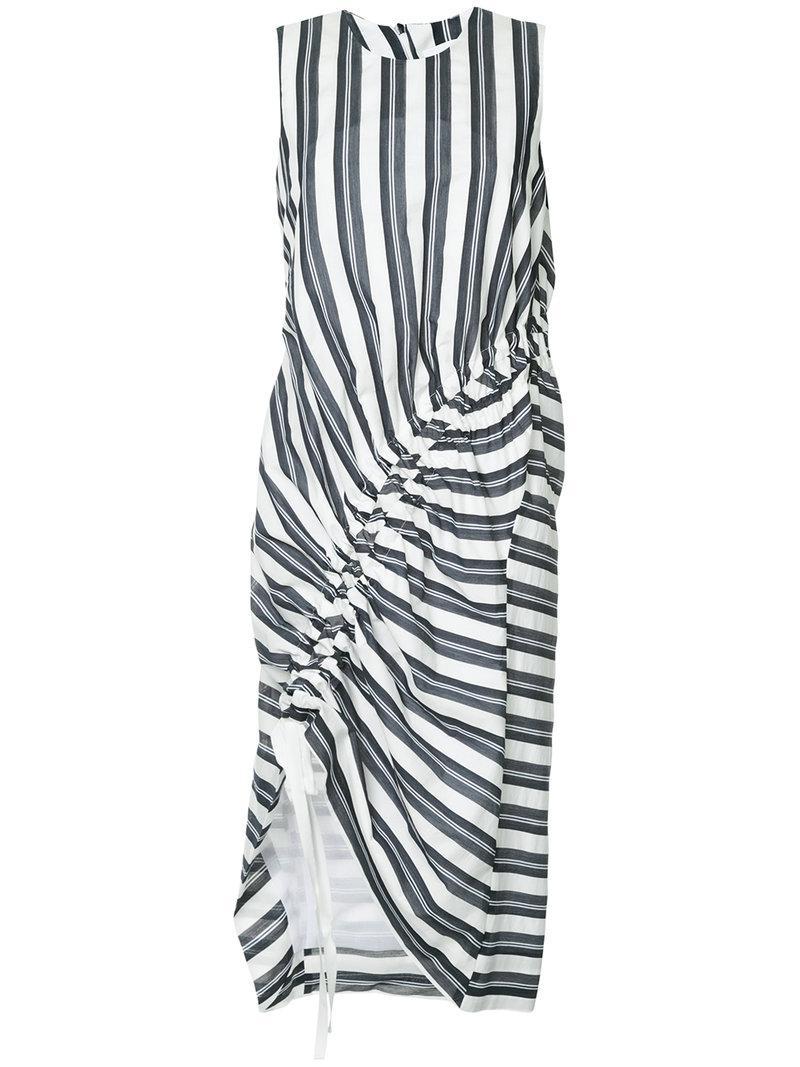 stripe gathered midi dress - Blue CHRISTOPHER ESBER GzcuEI